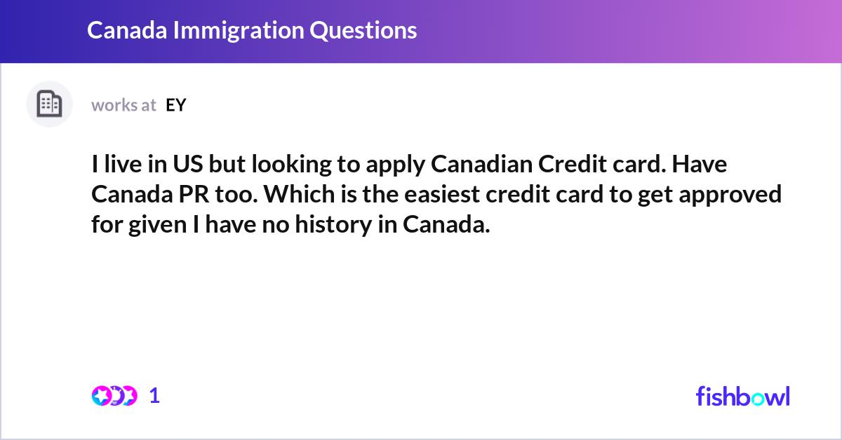 i live in us but looking to apply canadian credit card